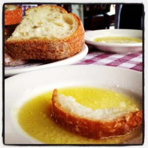 A scrumptious lunch at one of our favorite little Italian bistros
